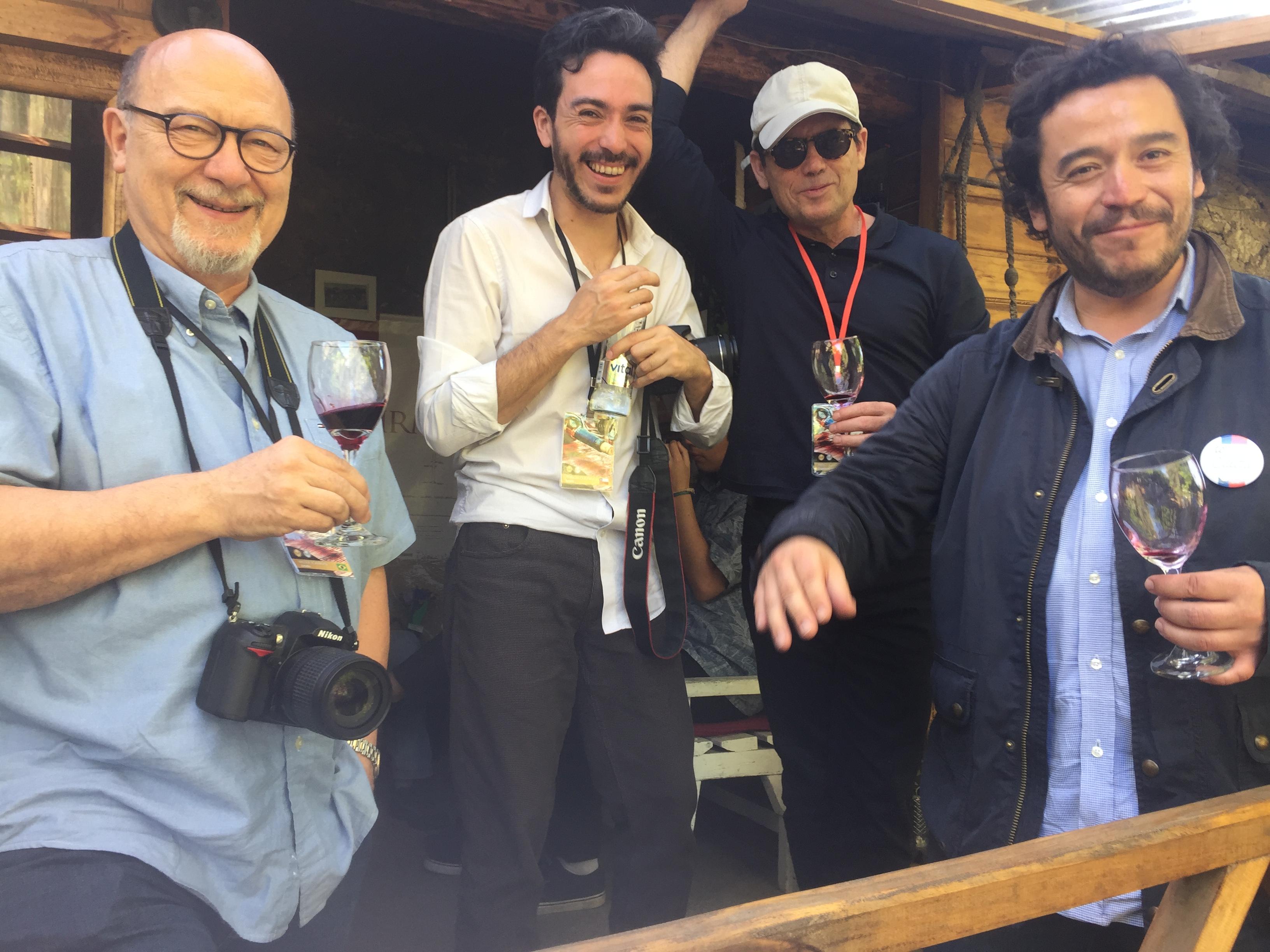Walter Tommas, Francisco Zúñiza, Pablo Ugarte y Héctor Riquelme,