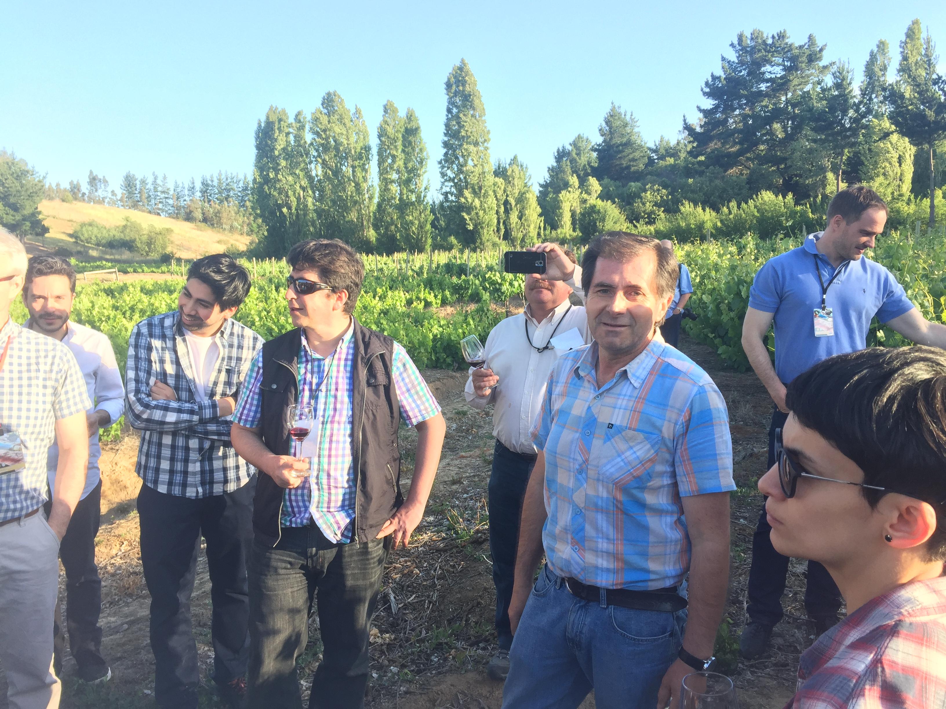José Luis Rozas, dueño de viña Sanroke,  presenta  sus viñedos de Malbec centenarios en su