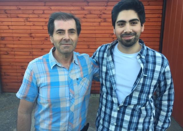 José Luis Rozas junto a uno de  sus dos  hijos, Cristián.
