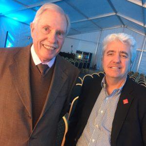 Dirk Leisewitz, Presidente de ACECHI, junto a Claudio Cilveti, Gerente de Vinos de Chile.