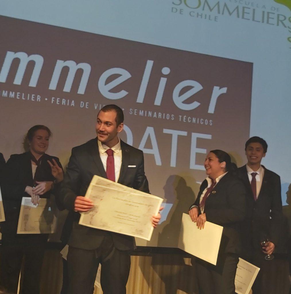 Mauricio Vignes, ganador del Concurso Mejor Sommelier de Chile 2019